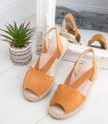 fc3c01217fc7ba Sandałki damskie Ideal Shoes SA-2893 Brązowe