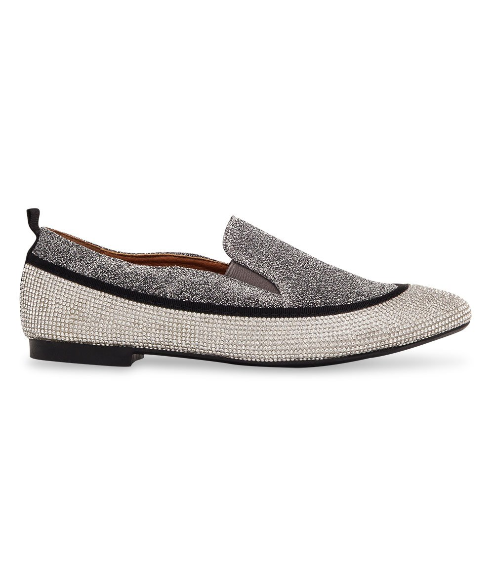 Balerinki damskie Ideal Shoes S-7341 Srebrne