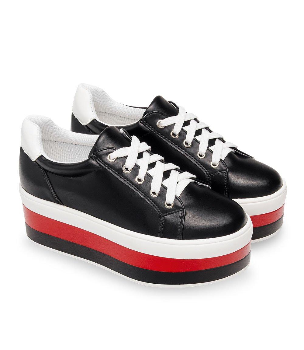 05d46f9918719c ... Buty sportowe damskie Ideal Shoes U-6273 Czarne Kliknij, aby powiększyć  ...