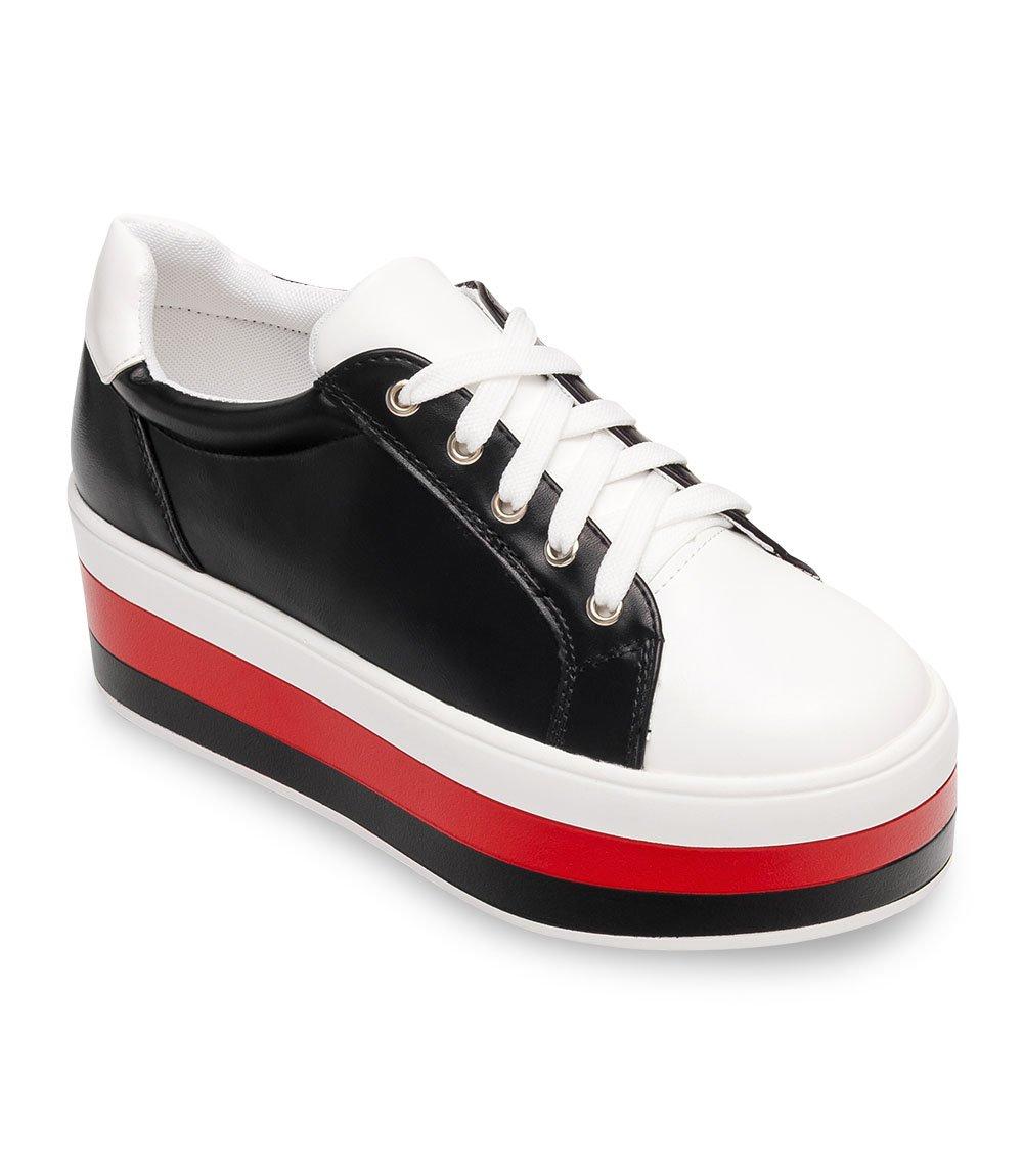 dbb1d55698dcd3 ... Buty sportowe damskie Ideal Shoes U-6273 Białe Kliknij, aby powiększyć  ...