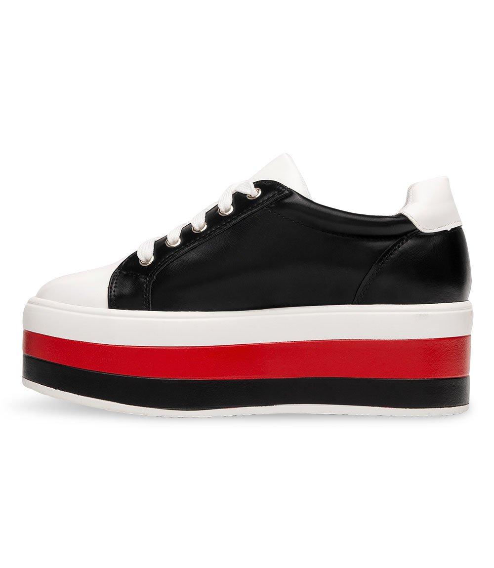 dec6911db5903f ... Buty sportowe damskie Ideal Shoes U-6273 Czarno-Białe Kliknij, aby  powiększyć