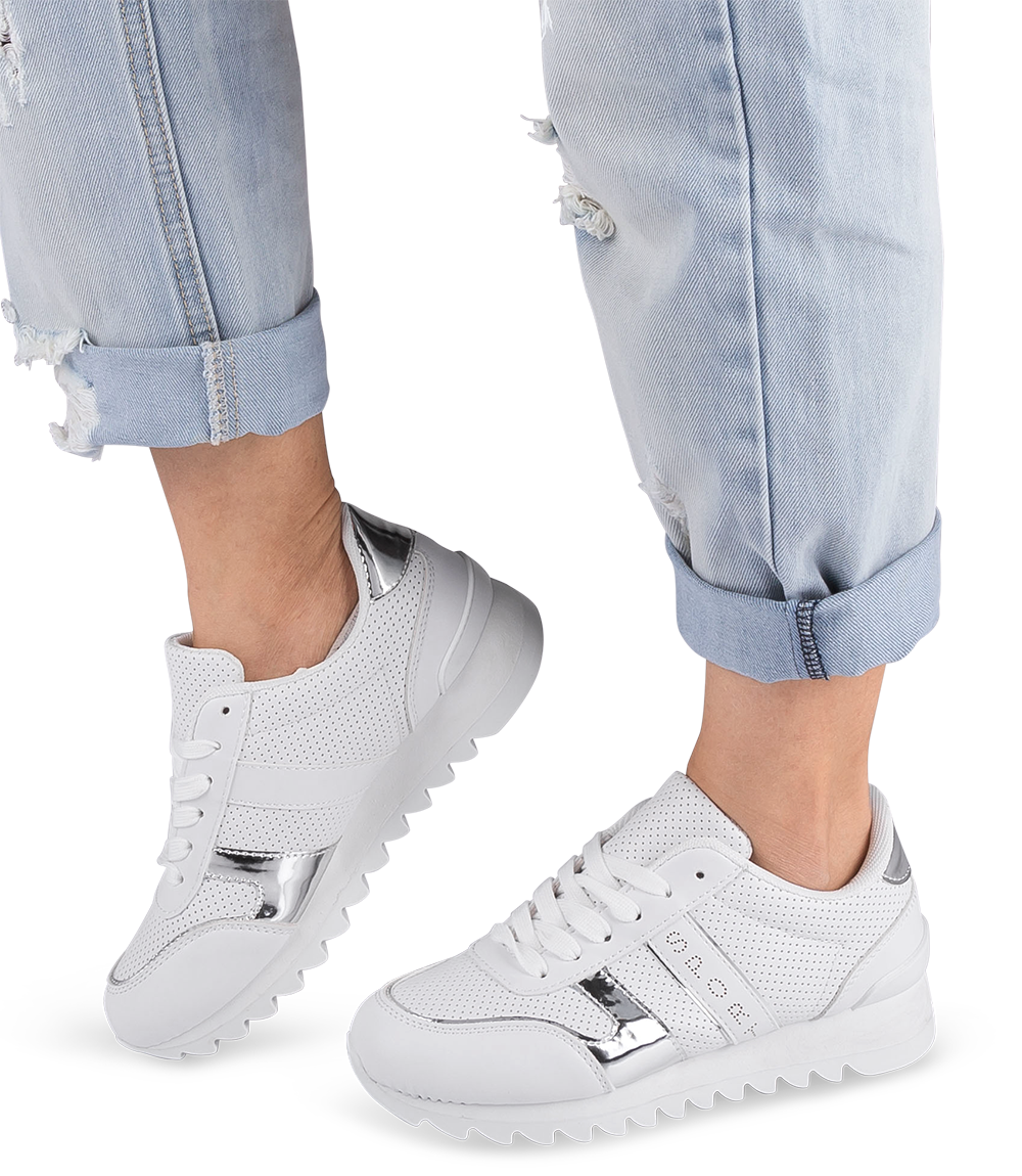 Buty sportowe damskie NM BOK 36 Białe