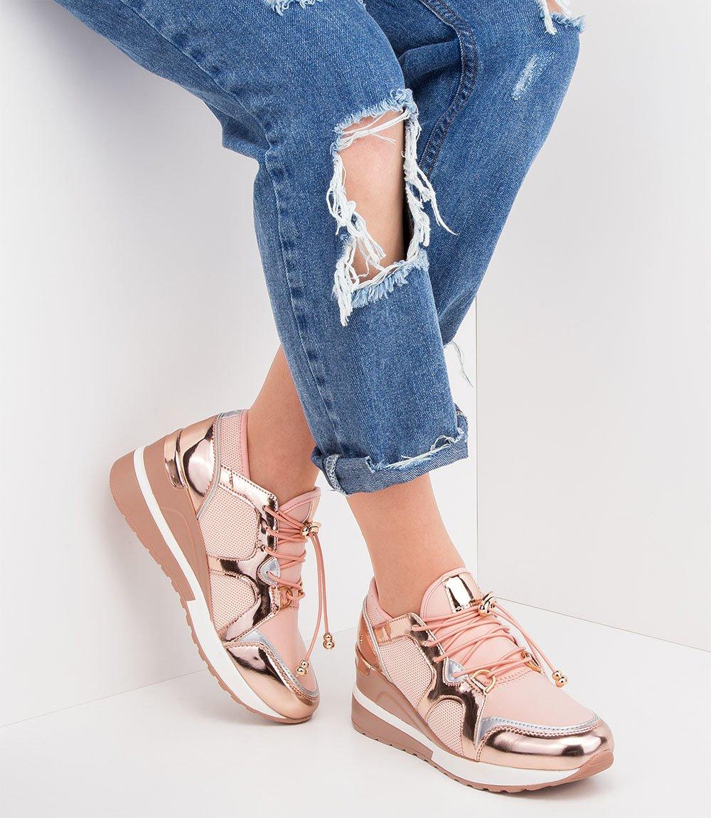 Bardzo dobra Buty sportowe damskie N/M R230 Różowe Różowy   Damskie \ Obuwie LK85