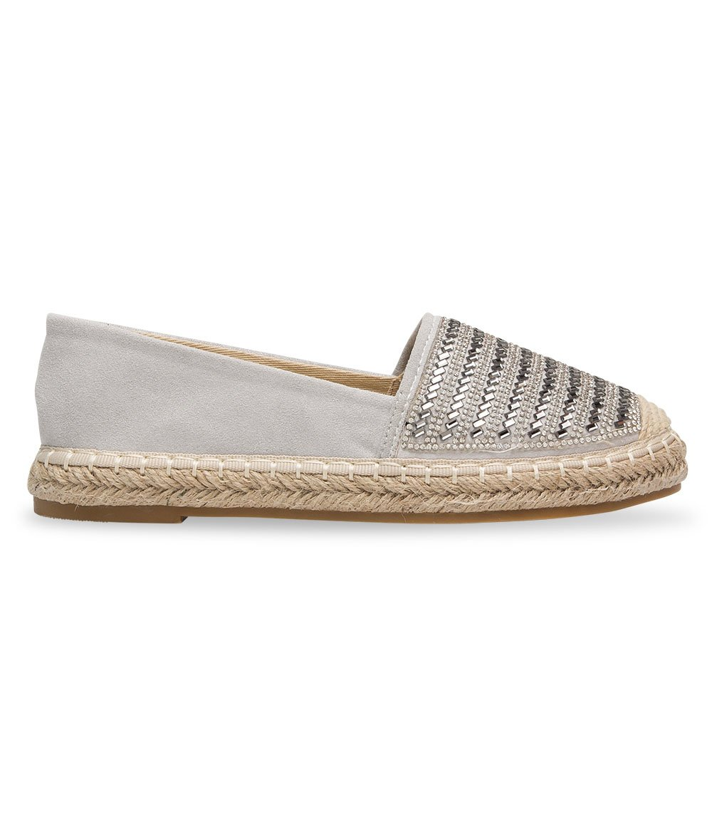 Espadryle damskie Ideal Shoes A-9259 Szare