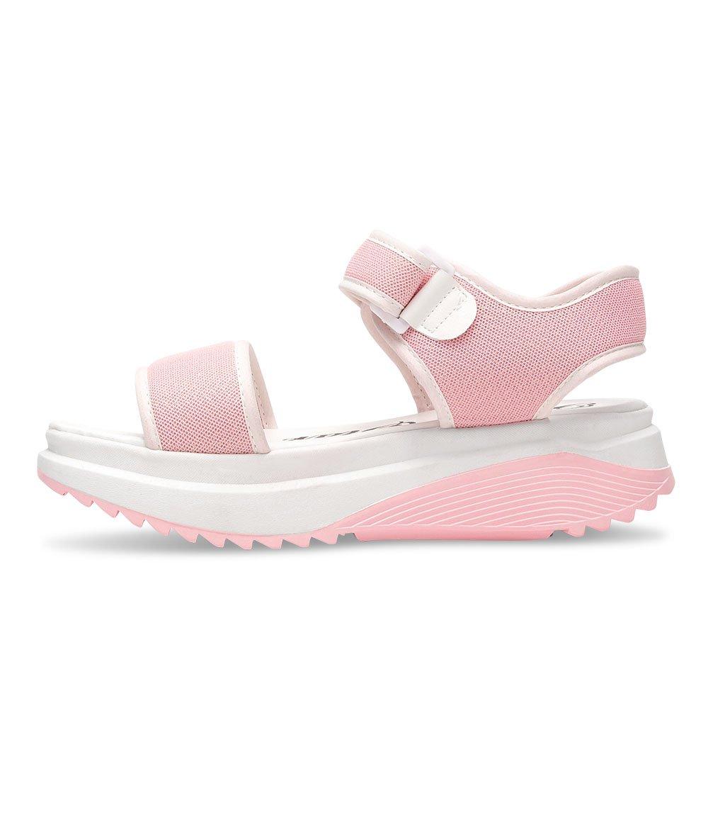 bello star wygodne sandały na koturnie różowe różowe