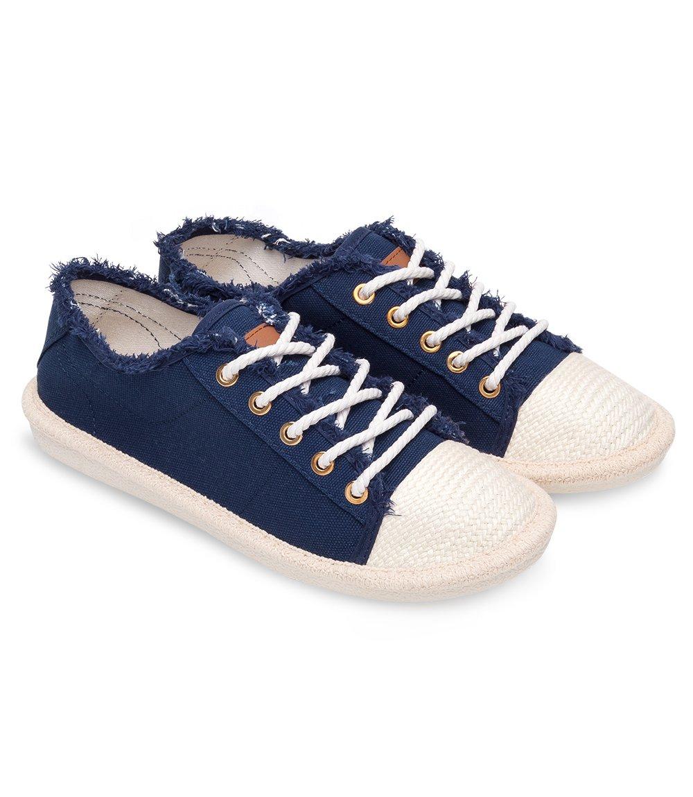 Trampki damskie Ideal Shoes X 9716 Granatowe